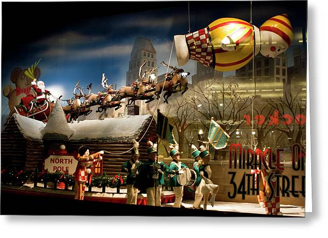Macy's Miracle On 34th Street Christmas Window Greeting Card