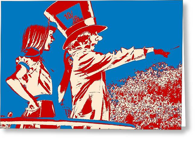 Mad As A Hatter Greeting Card by Sharon Cross