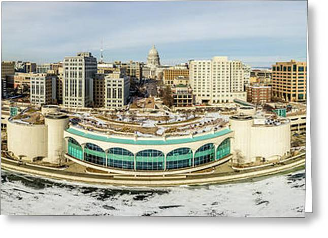 Greeting Card featuring the photograph Mad City by Randy Scherkenbach