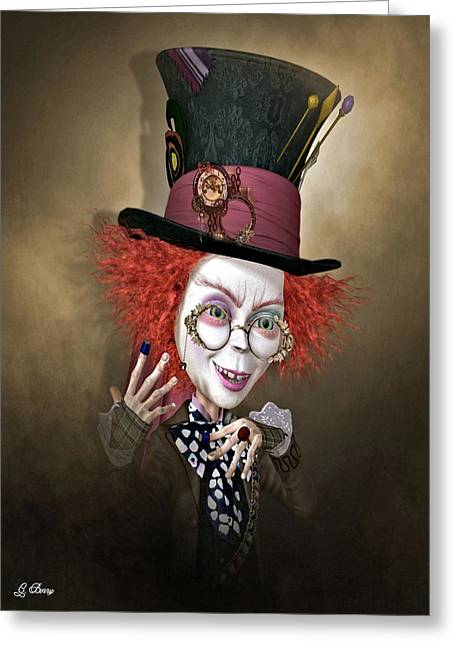 Mad Hatter Greeting Card by G Berry