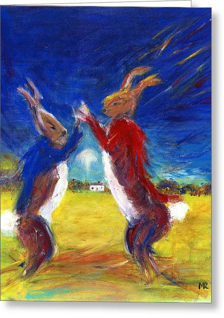 Mad Hare March Greeting Card
