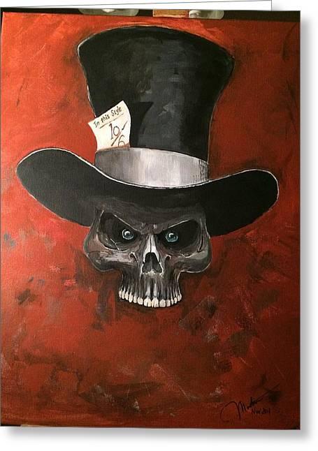 Mad Hatter Greeting Card by Matt Martin
