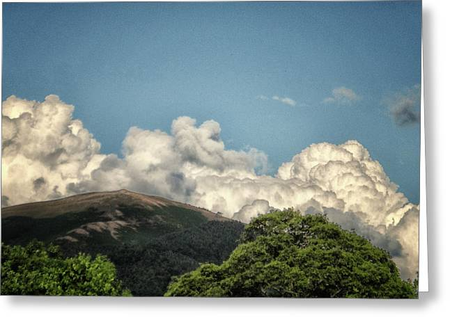 Mad Looking Clouds Greeting Card
