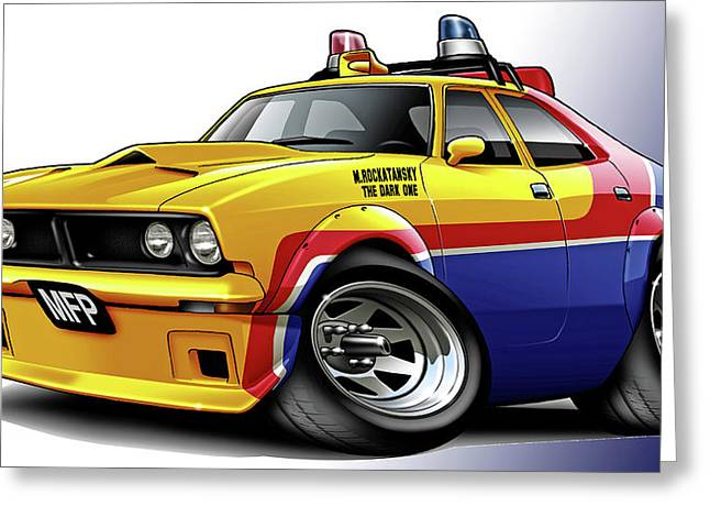 Mad Max Mfp Falcon Police Car Greeting Card by Maddmax