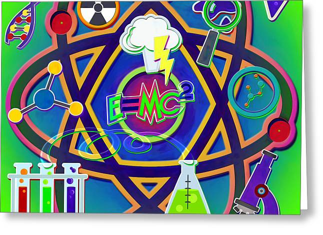 Mad Science Collage Greeting Card