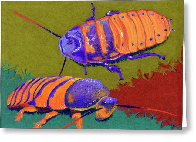 Hiss Greeting Cards - Madagascar Hissers Greeting Card by Tracy L Teeter
