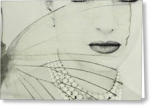 Madam Butterfly - Maria Callas  Greeting Card