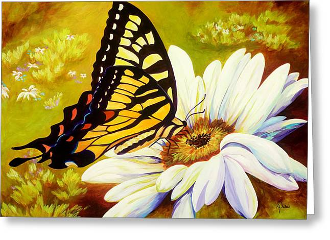 Madame Butterfly Greeting Card by Karen Dukes