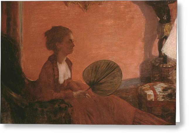 Madame Camus Greeting Card by Edgar Degas