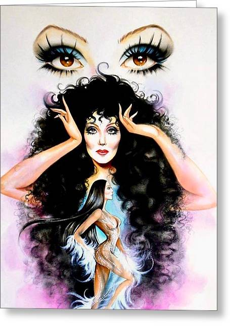 Madame Cher Greeting Card