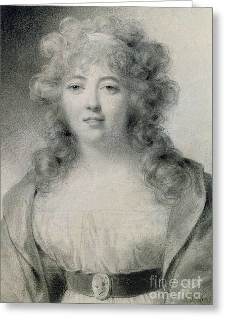 Madame De Stael  Greeting Card by Jean-Baptiste Isabey