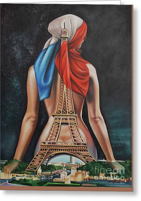 Madame Eiffel Greeting Card