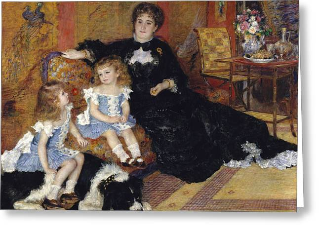 Madame Georges Charpentier And Her Children Greeting Card by Auguste Renoir