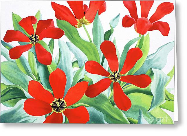 Madame Lefeber Tulips Two Greeting Card by Christopher Ryland