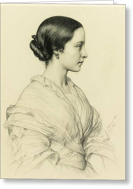 Madame Leonie Bouchage Greeting Card