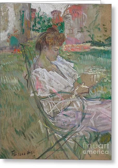 Madame Misia Natanson Greeting Card by Henri de Toulouse-Lautrec
