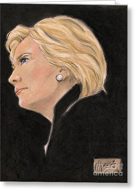 Madame President Greeting Card by P J Lewis