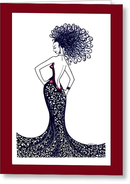 Madame Rouge Greeting Card