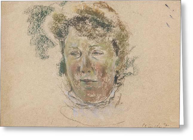 Madame Thadee Natans Greeting Card