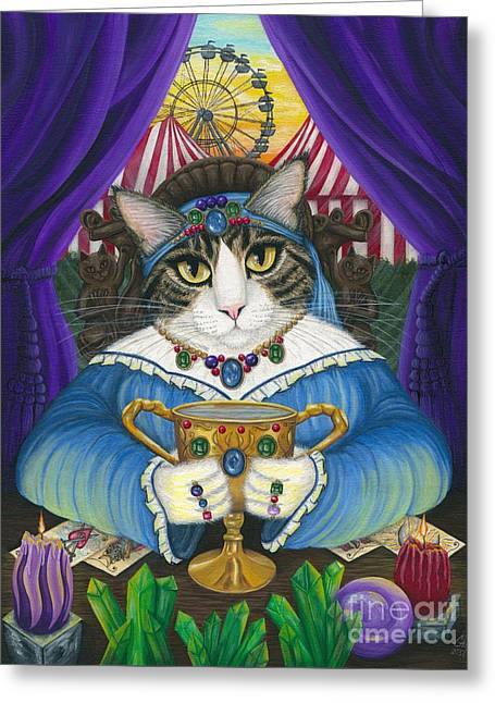 Madame Zoe Teller Of Fortunes - Queen Of Cups Greeting Card