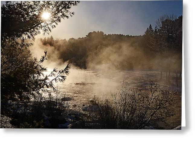 Madawaska River Sunrise Mist Greeting Card