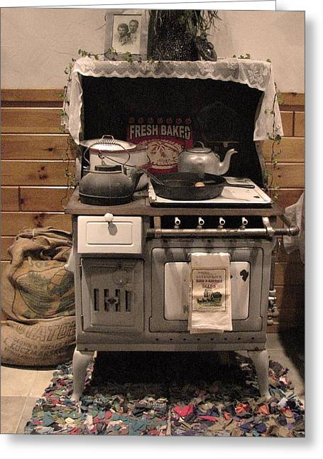 Maddie's Old Stove Greeting Card