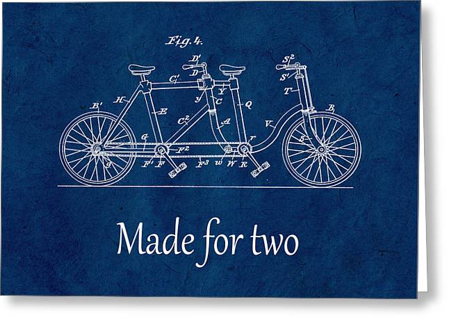 Made For Two - Blue Greeting Card by Delphimages Photo Creations