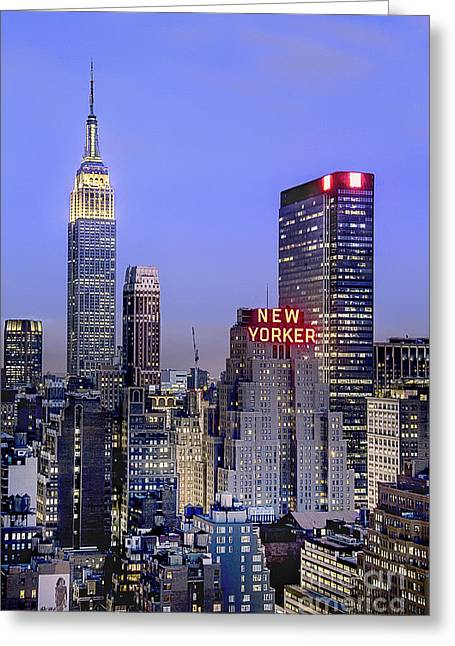 Made In New York Greeting Card by Evelina Kremsdorf