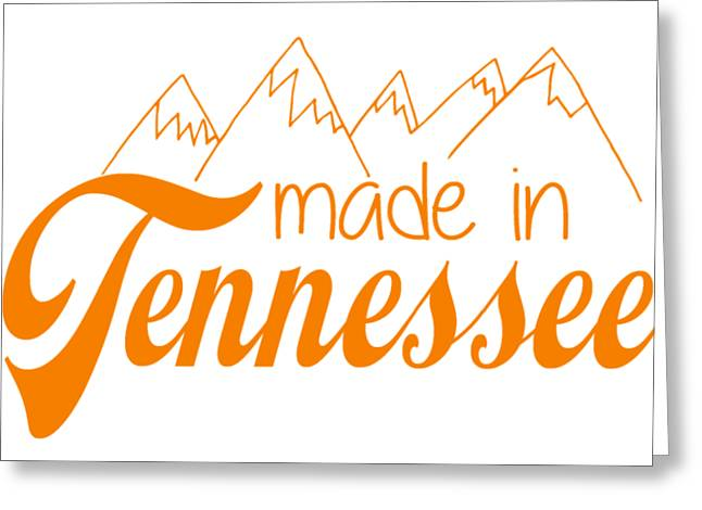 Made In Tennessee Orange Greeting Card