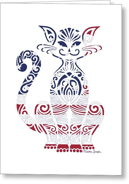 Made In The Usa Cat Greeting Card