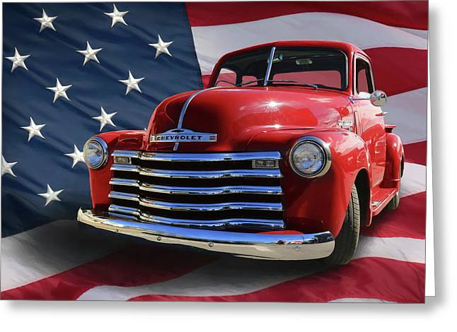 Made In The Usa Greeting Card by Lori Deiter