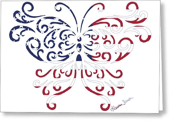Made In The Usa Tribal Butterfly Greeting Card