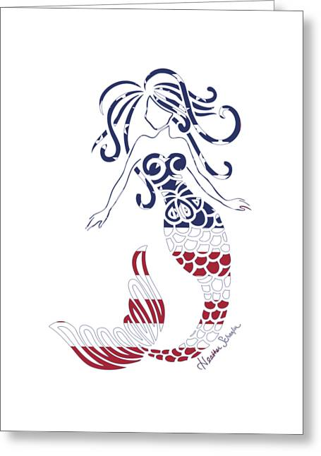 Made In The Usa Tribal Mermaid Greeting Card