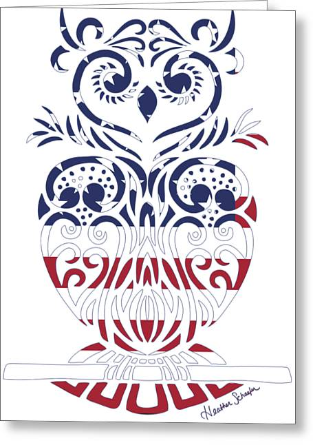 Made In The Usa Tribal Owl Greeting Card