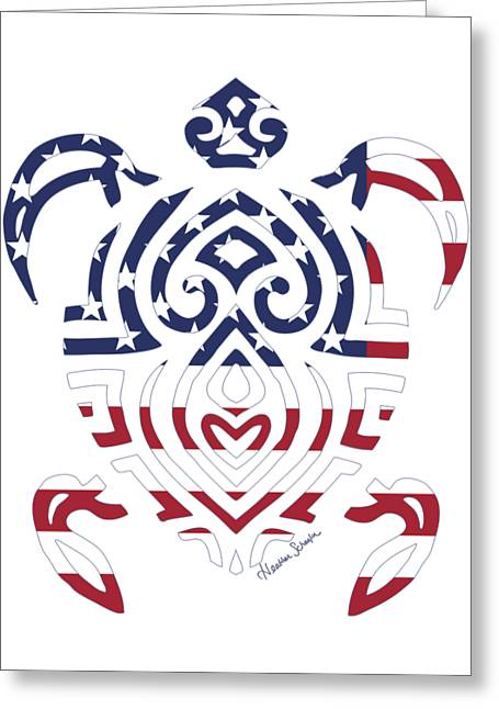 Made In The Usa Tribal Turtle Greeting Card