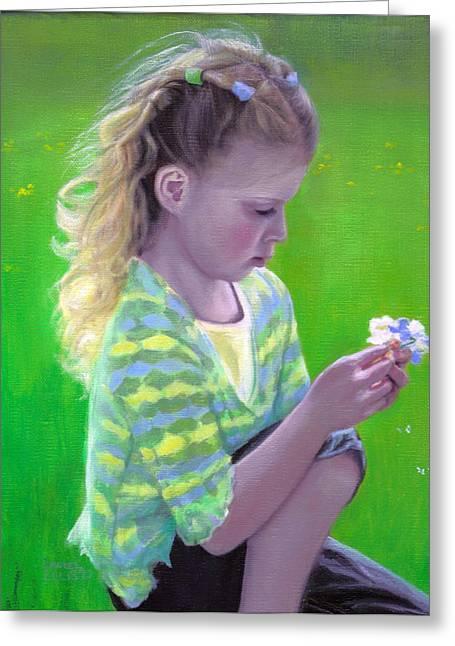 Madeline Greeting Card by Laurel Ellis