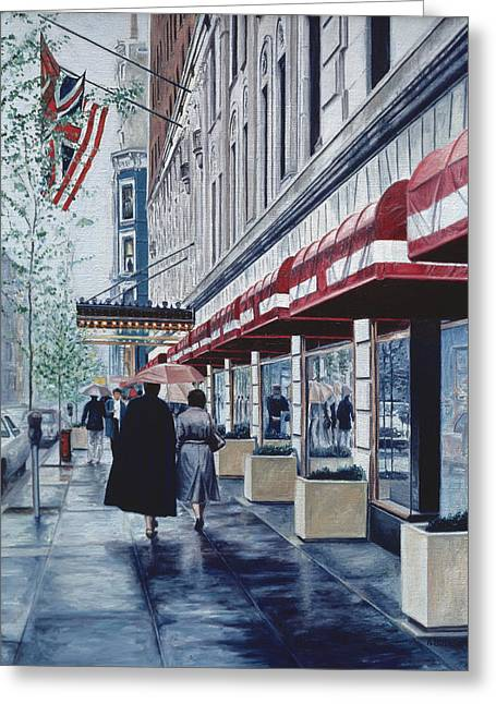 Madison Avenue Greeting Card by Anthony Butera