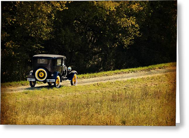 Madison County Back Roads-ford Greeting Card by Kathy M Krause