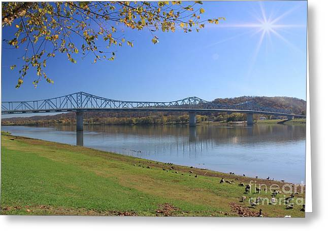 Madison, Indiana Bridge  Greeting Card