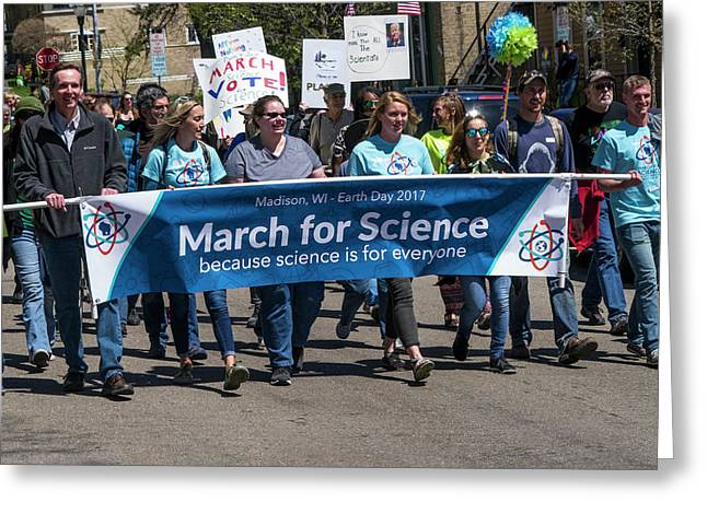 Madison Science March - 1 Greeting Card by Steven Ralser