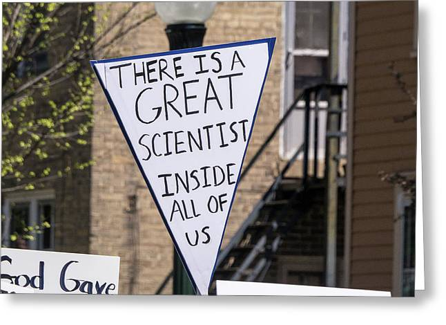 Madison Science March Sign 2 Greeting Card