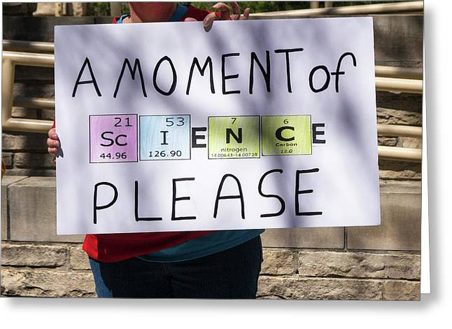 Madison Science March Sign 5 Greeting Card