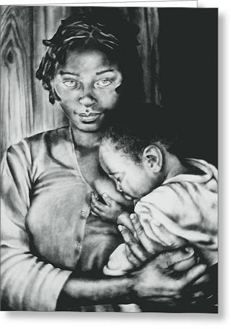 Madonna And Child Greeting Card by Curtis James