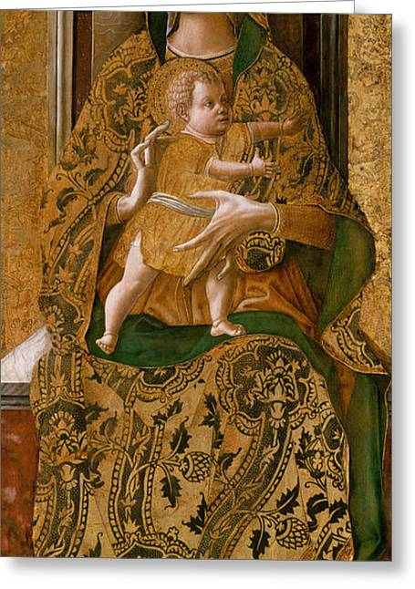 Madonna And Child Enthroned, 1472  Greeting Card