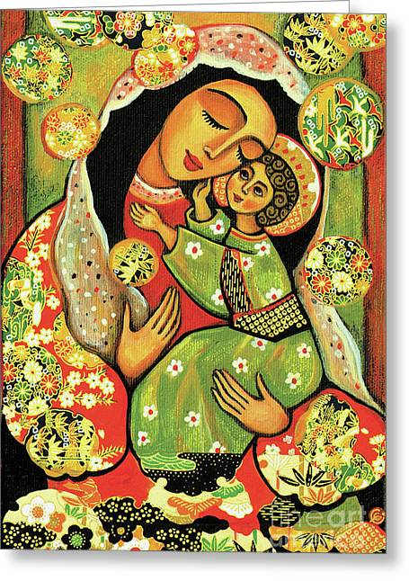 Madonna And Child Greeting Card