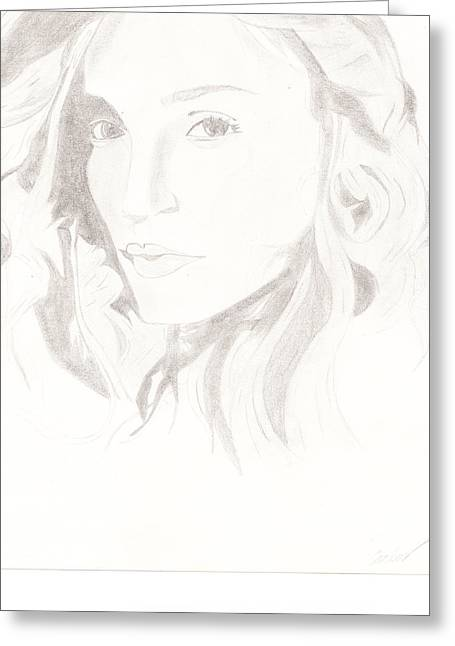 Madonna Greeting Card by Carlos Hyman