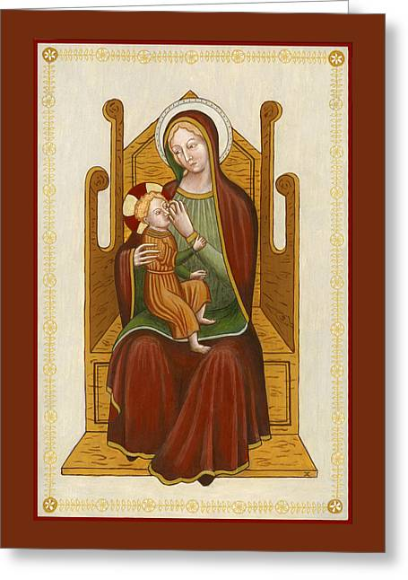 Madonna Del Latte - Madonna Nursing Greeting Card