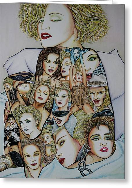 Madonna Est Greeting Card by Joseph Lawrence Vasile