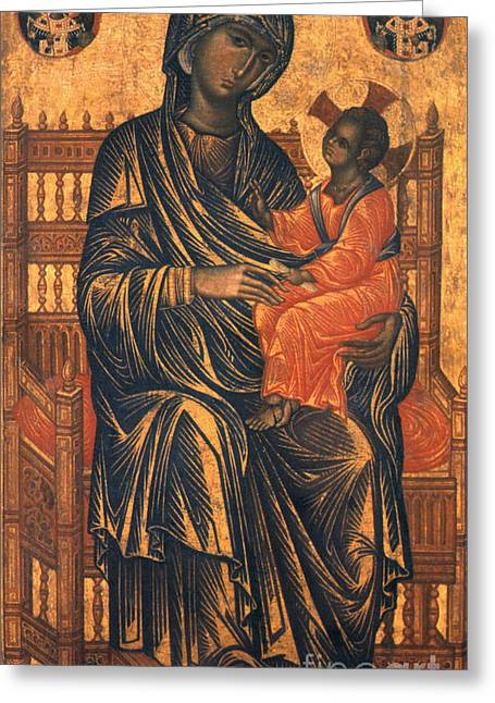 Madonna Icon, 13th Century Greeting Card