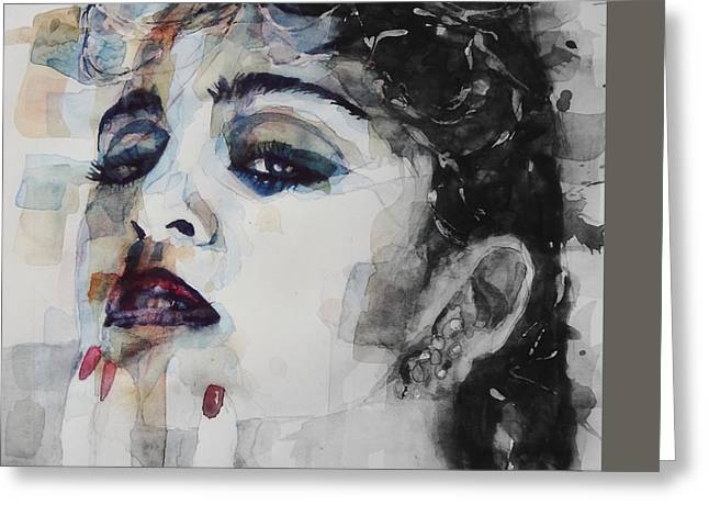Madonna  Like A Prayer Greeting Card by Paul Lovering